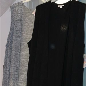 LuLaRoe Gray and Black Joys Size xl - Lot of 2